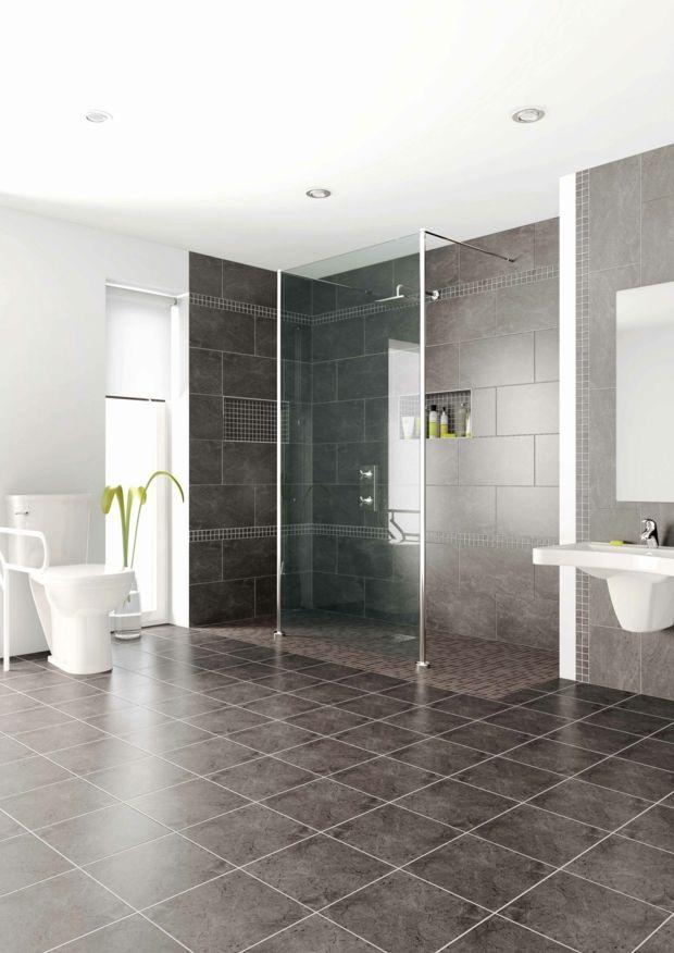 Carrelage douche italienne - idées décoration moderne - salle de bain moderne douche italienne