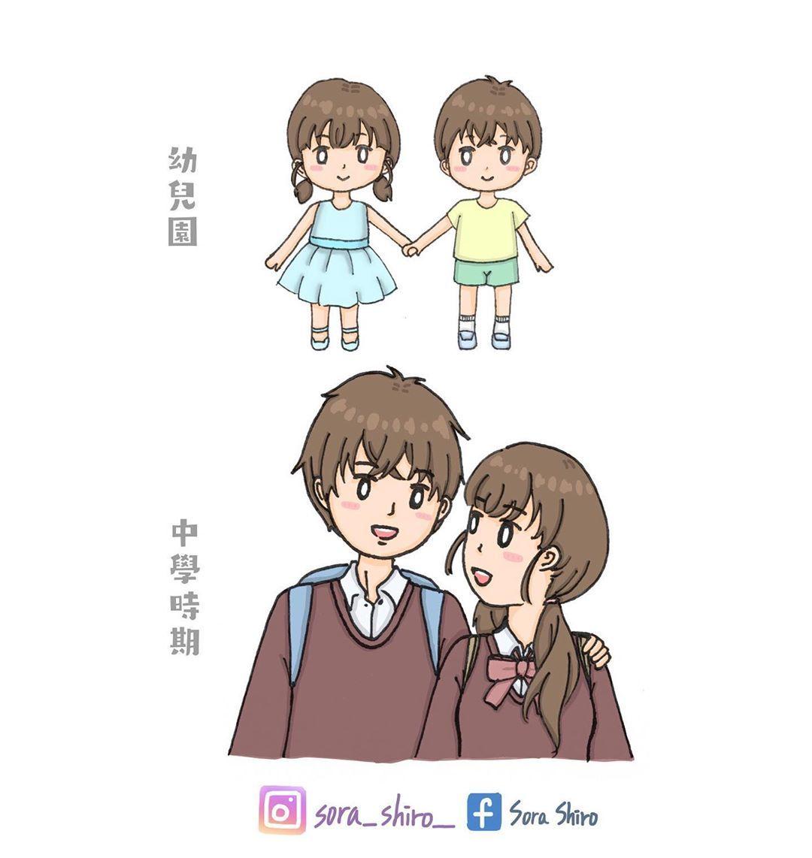 令人羨慕的動漫設定👫 #hongkong #香港 #香港插畫 #插畫 #插畫家 #香港插畫專區