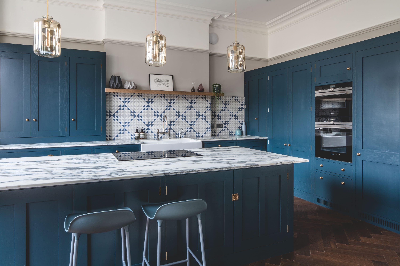 Dark Blue Geometric Kitchen | 33a Design Inspiration | Pinterest ...