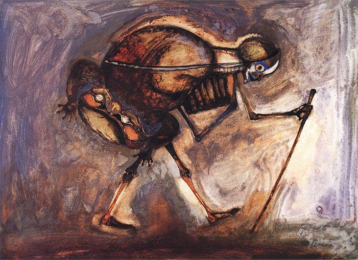 Francisco Toledo The Wanderer 1989 Mexican Artists Mexican Art Toledo