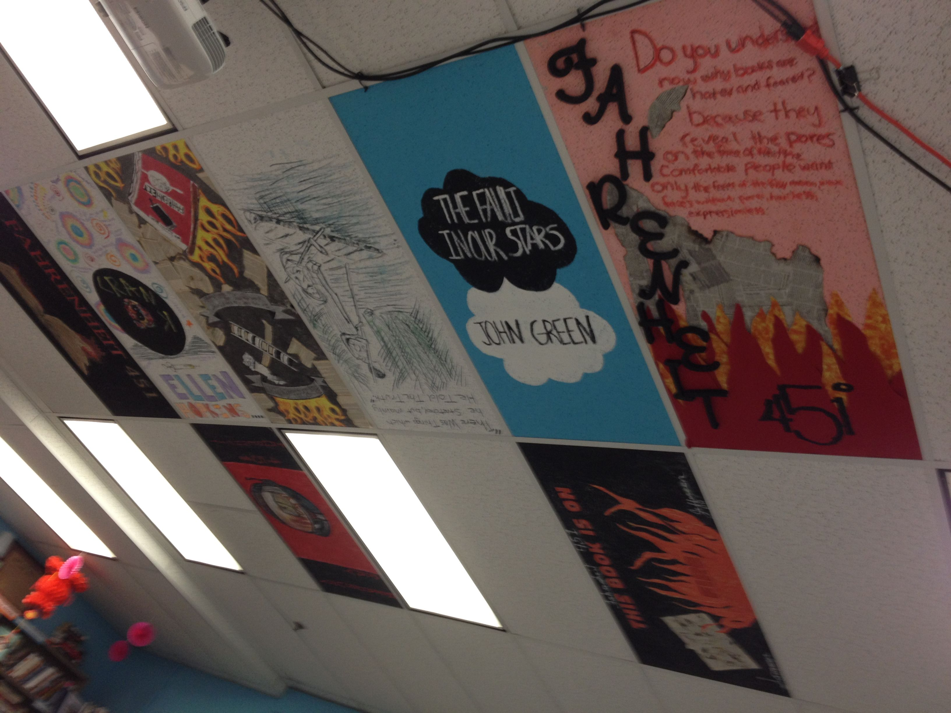 Tile Decorations Mesmerizing Paint Ceiling Tiles With Book Themesbest Way To Display Student Design Ideas