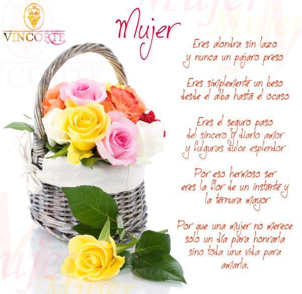 Rosas de Colores con frases Dia de la Mujer