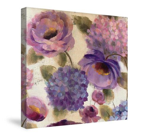 Purple Canvas Wall Art blue and purple flower song iii canvas wall art | canvas wall art