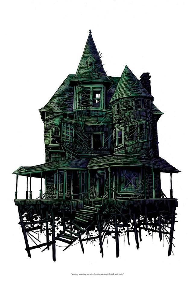 Daniel Danger. | Haunted house drawing, Castle ...