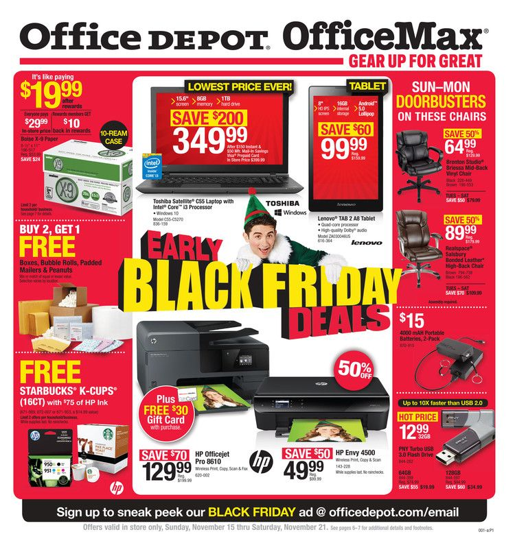 Pin about Office depot ad on Weekly Ads