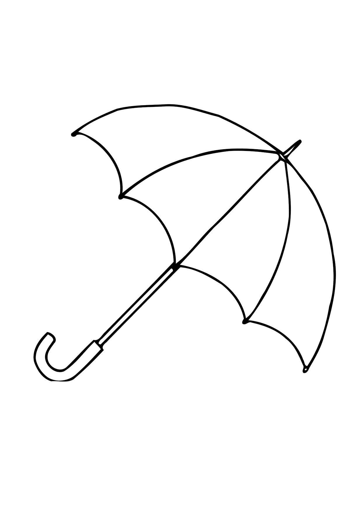 Coloring pages umbrella - Simple Umbrella Shape
