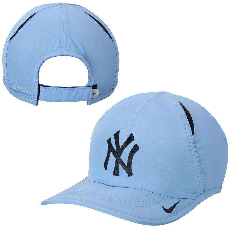 New York Yankees Nike Featherlight 2.0 Performance Slouch Adjustable Hat - Light  Blue 19d360c8517