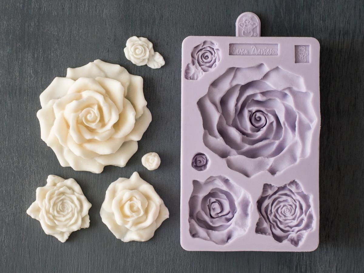 New Rose Flower Tassel Mould Border Silicone Brocade Mould Fondant Cake Cupcake