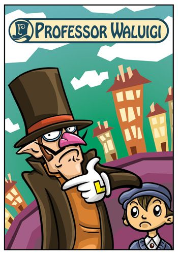 Waluigi as Professor Layton - Thought I would solve a mystery? Too bad! Waluigi Time!