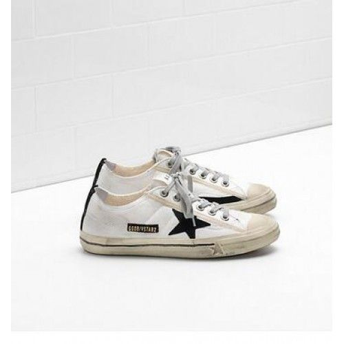 Chaussures 2018 acheter pas cher 100% authentique Golden Goose V-Star 2 Sneakers GGDB Chaussures Femme Blanc ...