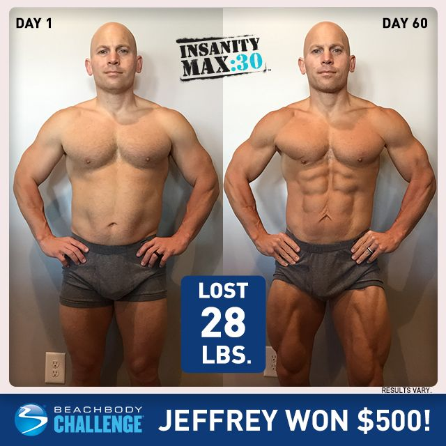 Insanity Max 30 Results Men - Jeffery B  | INSANITY: MAX 30