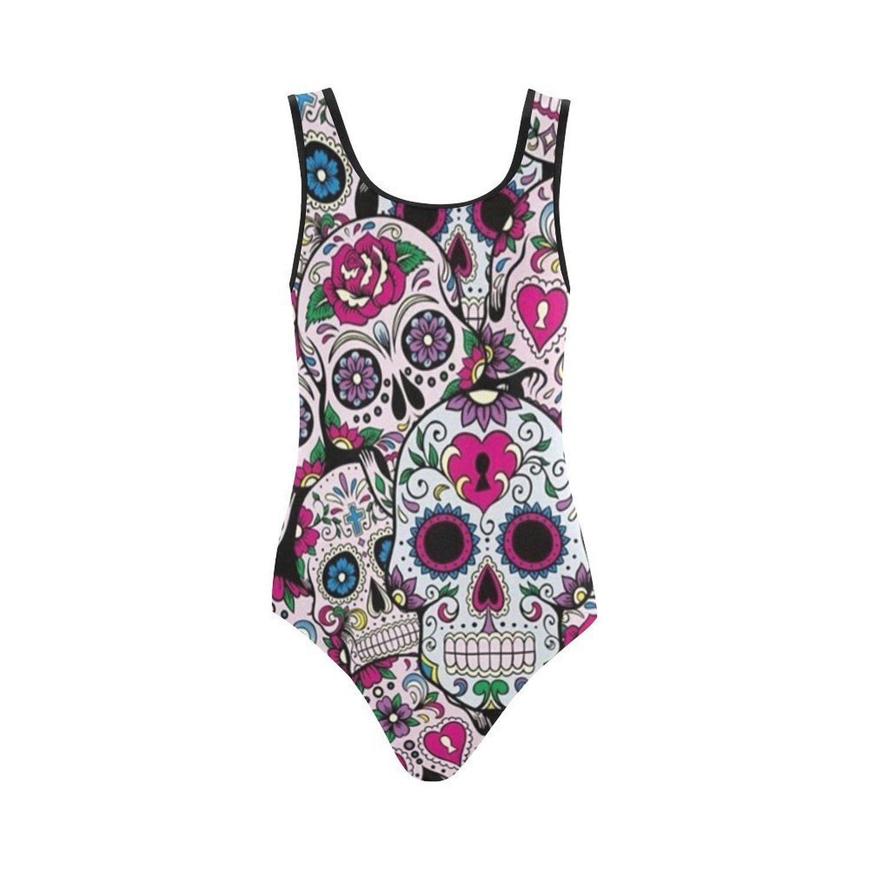 Alternative Gothic Punk Sugar Skulls Floral Swimwear Bikini Top Banned Apparel