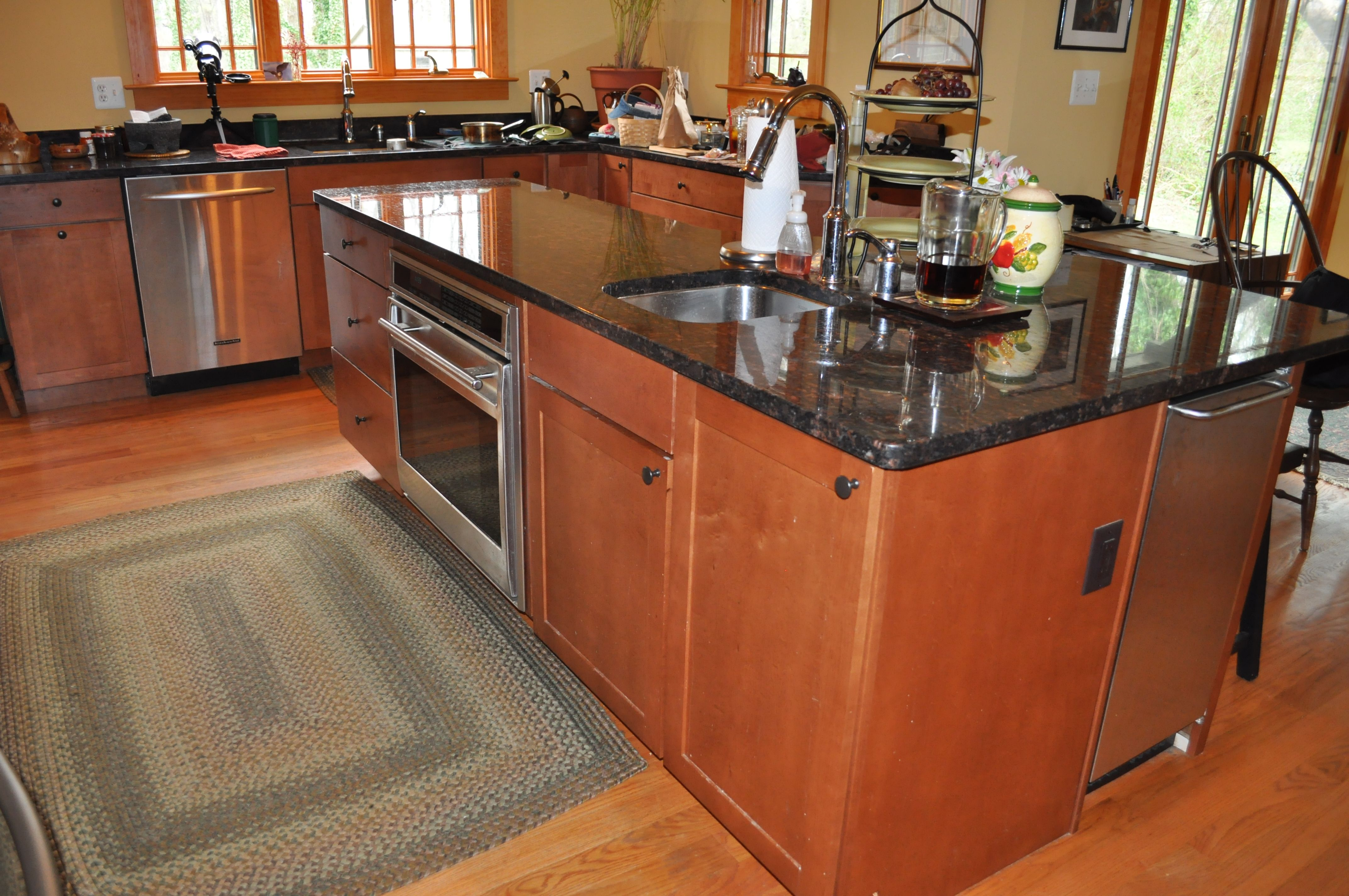 Kitchens With Under And Over Counter Appliances Maple Cabinets With Quartz Counter Tops Stainless Steel Appliances With Images Kitchen Remodel Kitchen Remodel