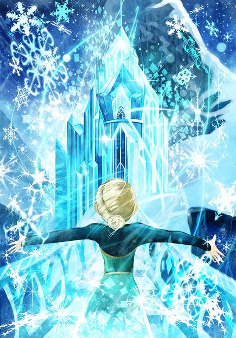 アナと雪の女王観てきました エルサが氷の階段を駆け上がる場面が