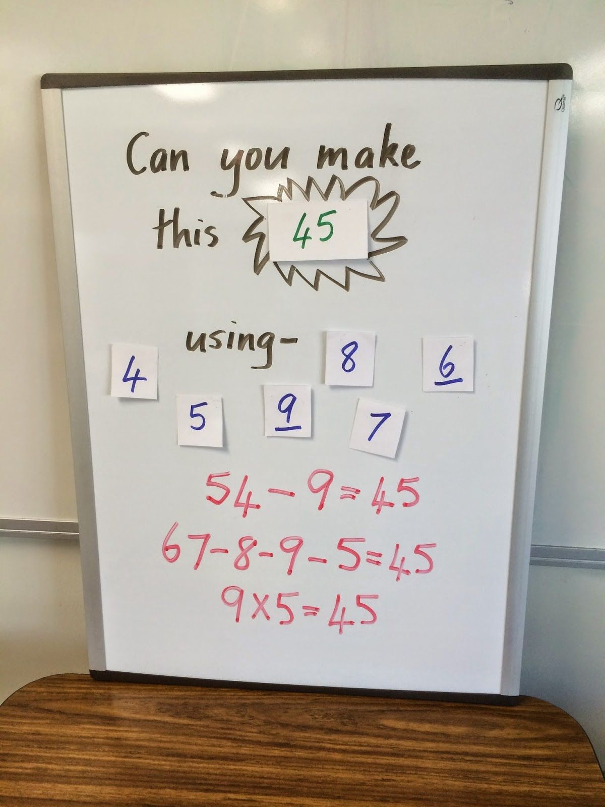 What A Fun Way To Have Students Use Multiple Numbers And Different Ways To Reach The Same Solution Math Classroom Simple Math Math [ 1600 x 1200 Pixel ]