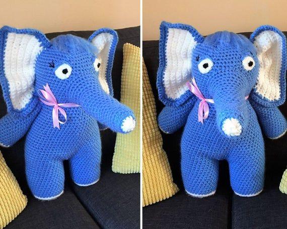 CROCHET PATTERN: Large Elephant , Crochet Elephant, Amigurumi Pattern, Amigurumi Animals, Crochet To