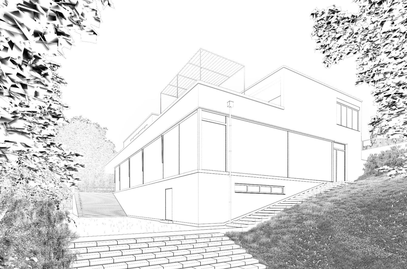 Line Drawing Render 3ds Max : Vray toon google search archviz dlineyo pinterest