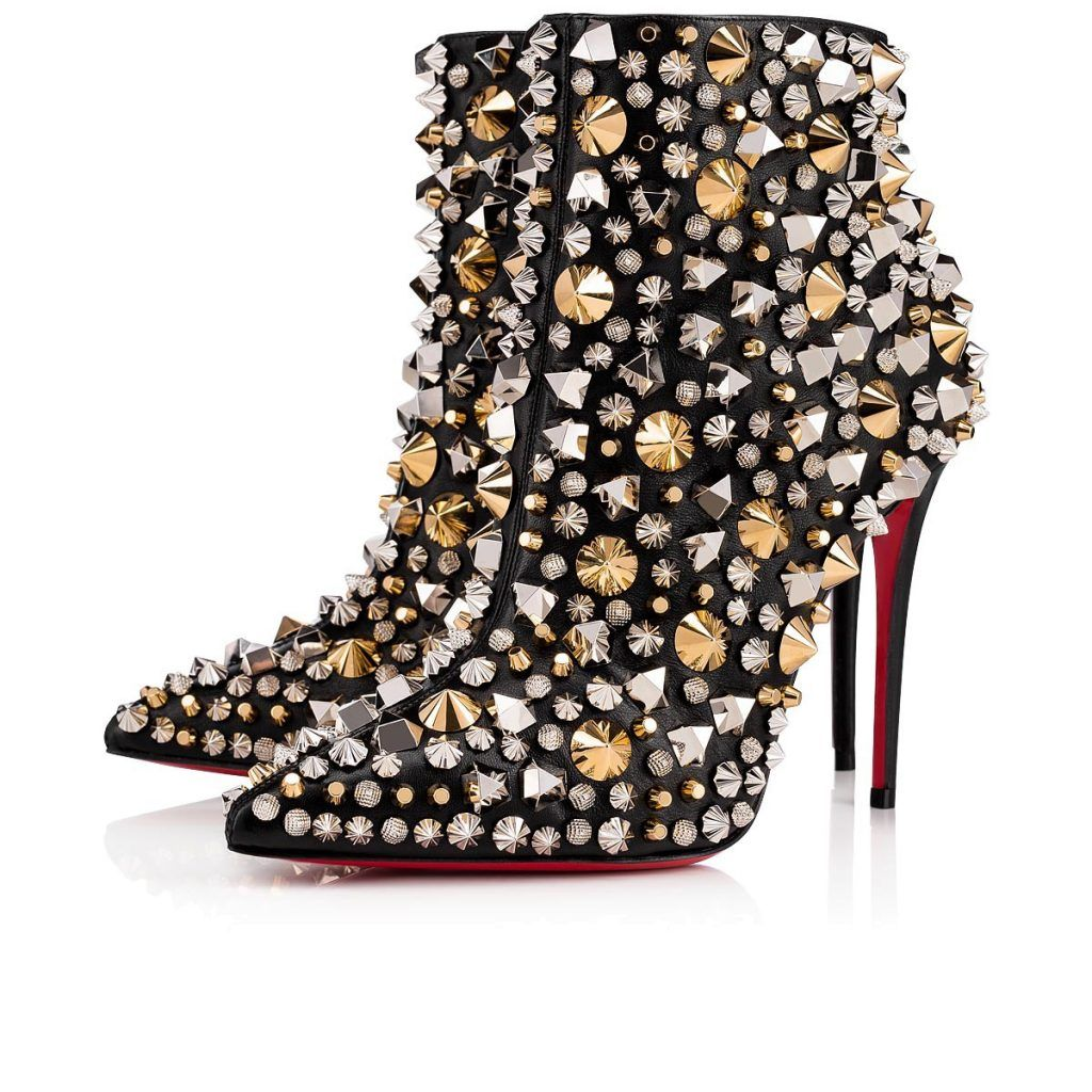 d5b7849f299  So Full Kate  Christian Louboutin Studded Booties - HighHeelseek