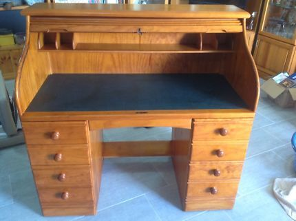Pine Roll Top Desk Desks Gumtree Australia Redland Area Thorneside 1115959247 Roll Top Desk Desk Redland