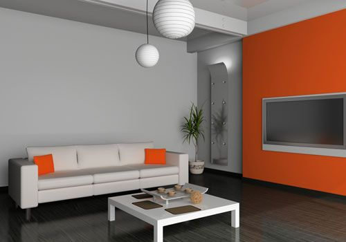 Love This Pop Of Orange Living Room Orange Grey And Orange Living Room Living Room Grey