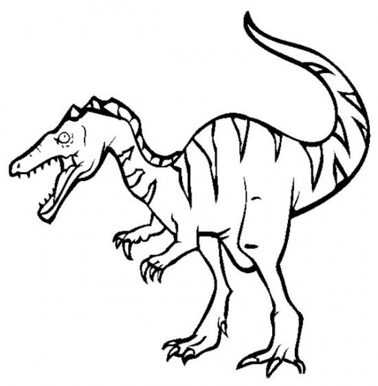 Baryonyx Dinosaur Coloring Pages For Kids 550x561 Picture