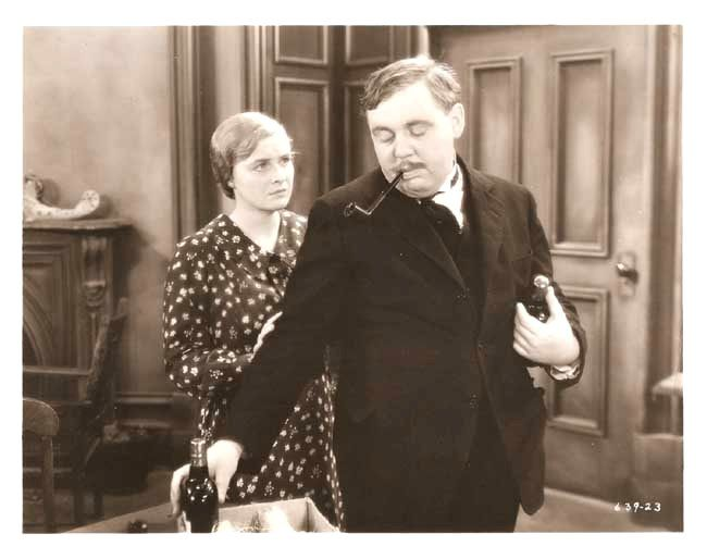 Dorothy Peterson and Charles Laughton in Payment Deferred (1932) Directed by Lothar Mendes