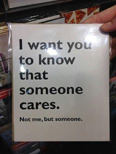 I cares you