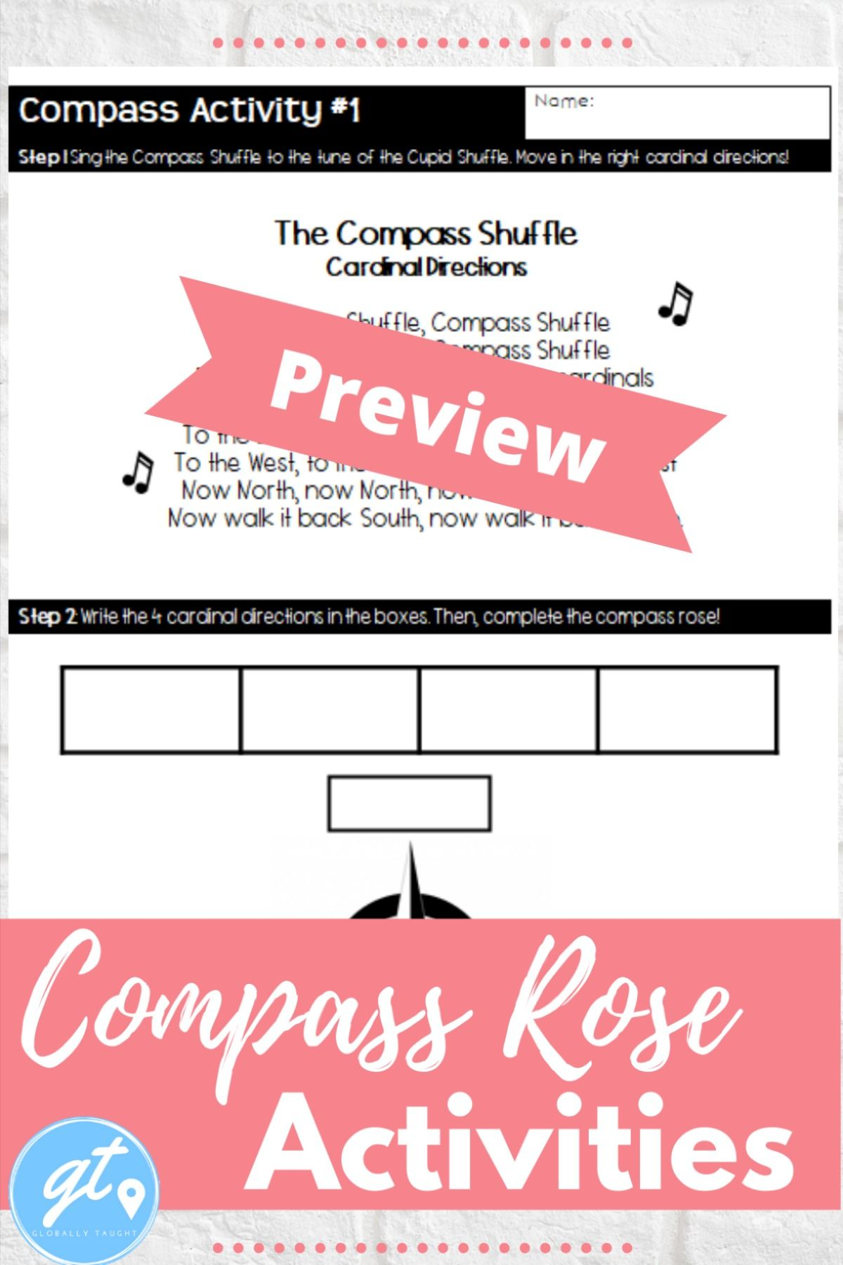 Compass Rose Activities With Cardinal And Intermediate