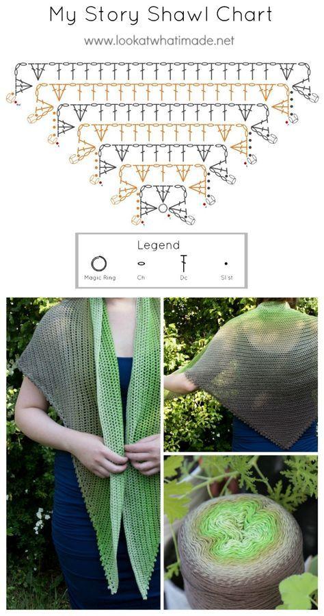 My Story Shawl Crochet Shawl Pattern | triángulo | Pinterest | Chal ...