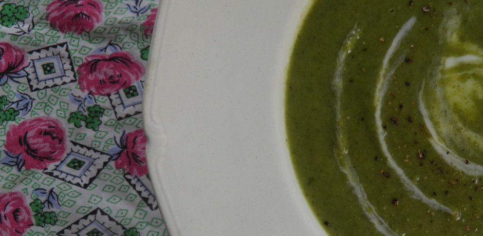 swirly lettuce soup