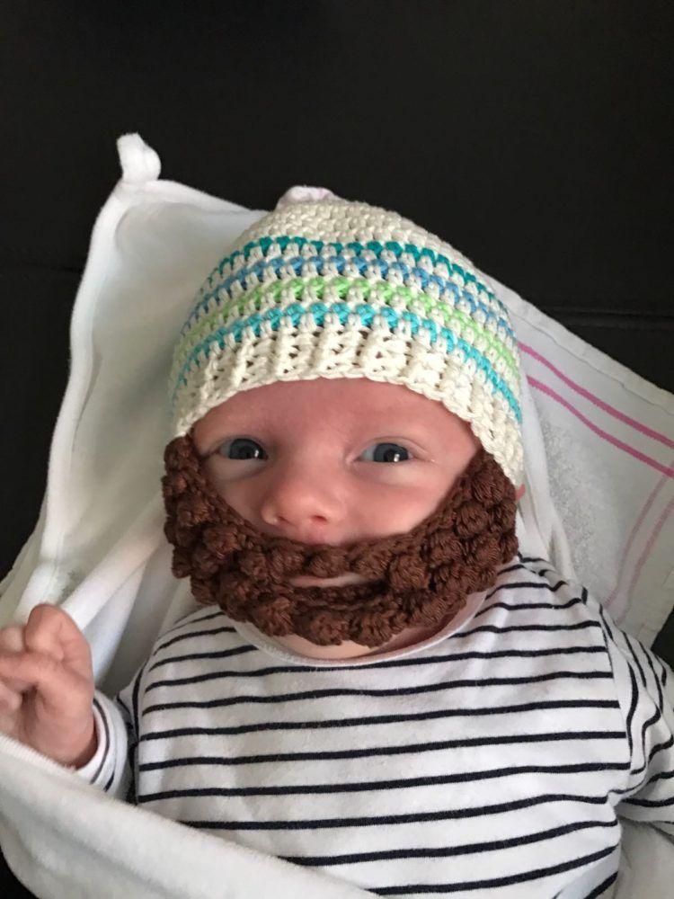 De Nederlandse Beschrijving Om Een Baby Baard Muts Te Haken De