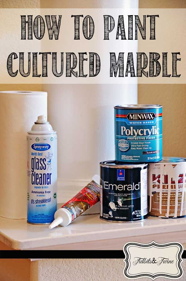 How To Paint Cultured Marble An Easy Update Decorating
