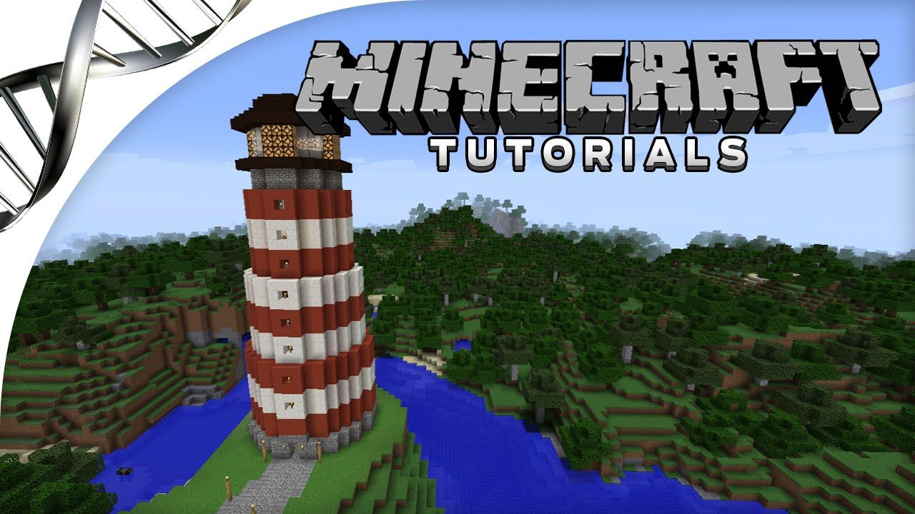 Minecraft Tutorial  How to Build a Lighthouse with Redstone