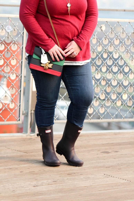 10de59884 How to Wear Short Purple Hunter Rain Boots | Simply {Darr}ling ...