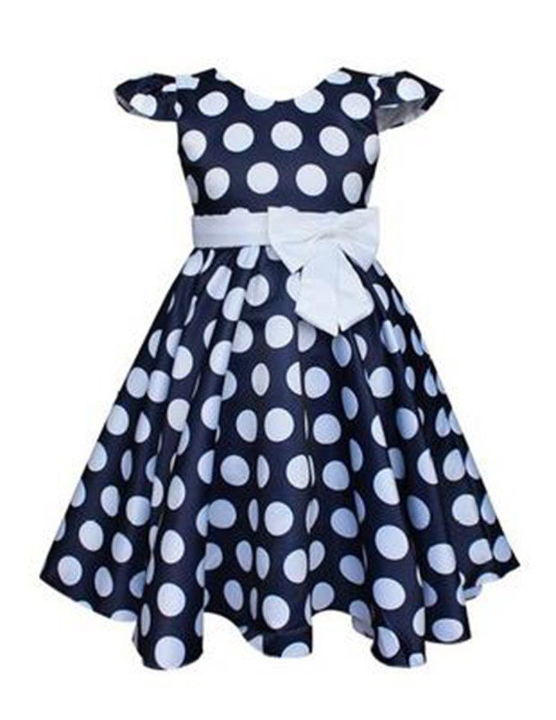 f724f4335 Kids Showtime Little Girl Baby Special Occasion Bow Cotton Polka Dot ...