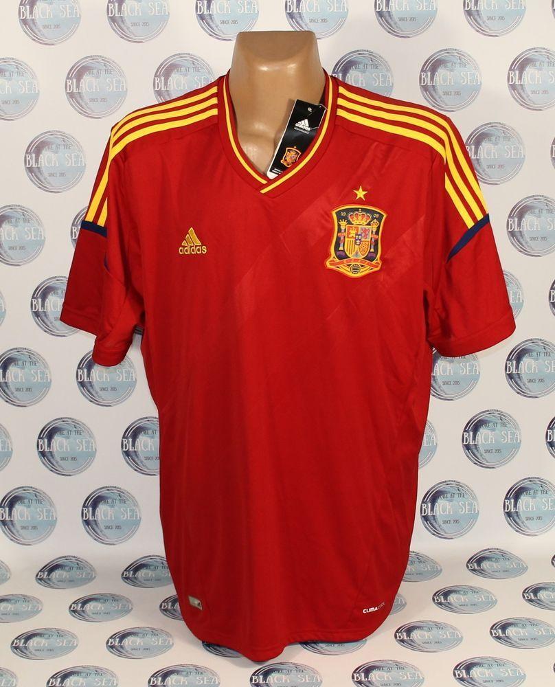 289fae788a Bnwt spain national team 2012 2013 football soccer shirt jersey camiseta 2xl