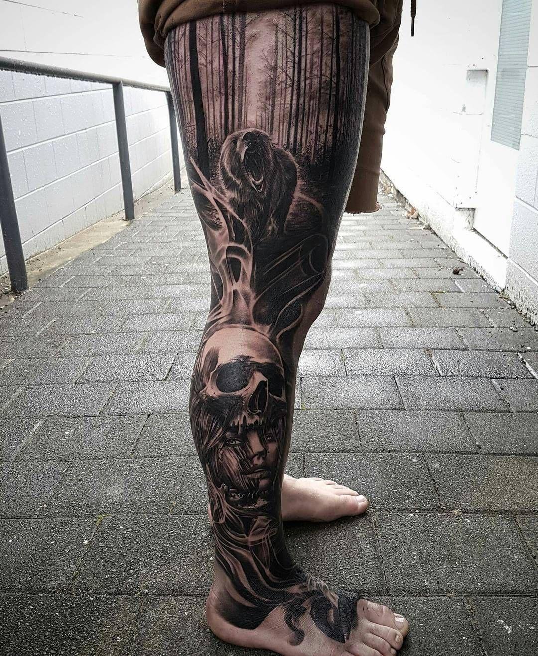 Идеи для тату на ноге мужские фото