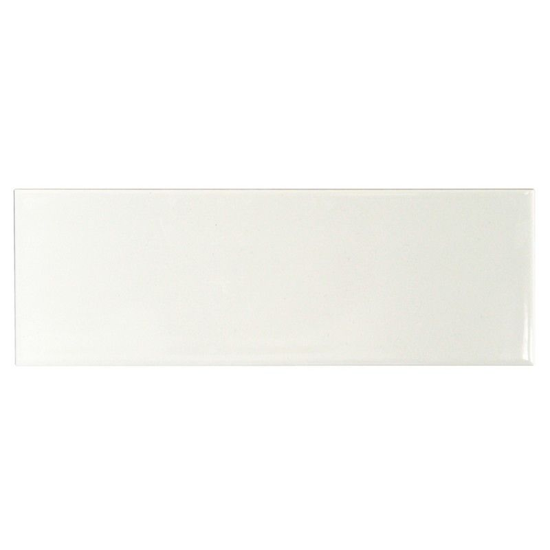 Basic White 4x12 Ceramic Subway Tile Polished Wall