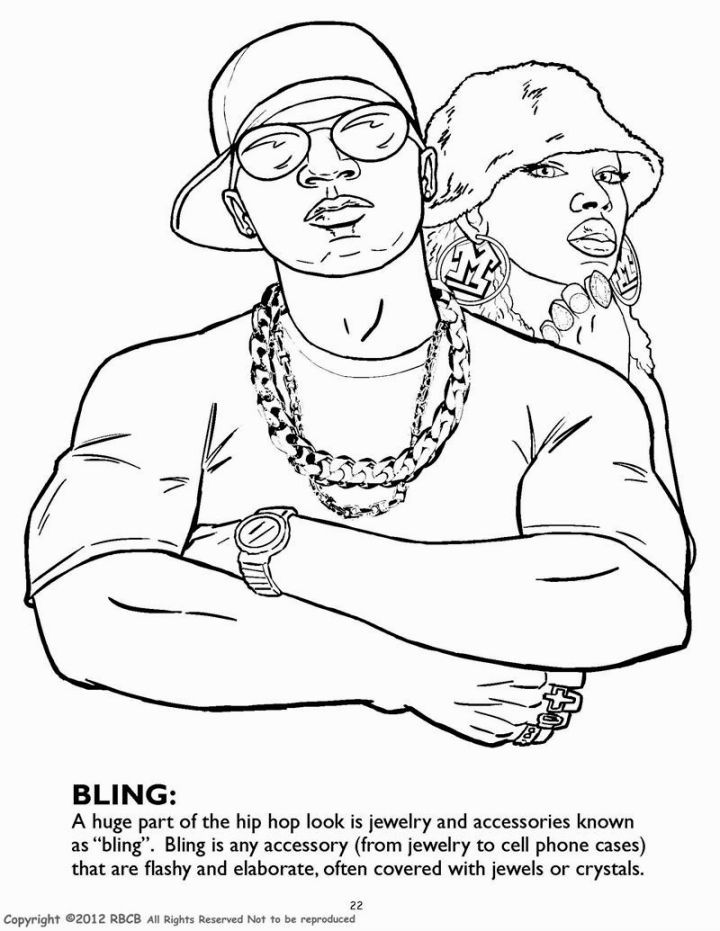 Hip Hop Coloring Book   Coloring Pages   Pinterest   Coloring books ...