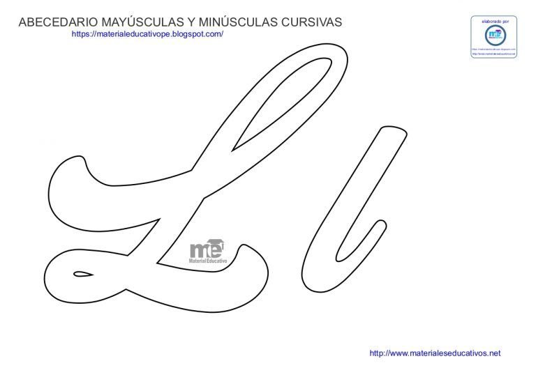 Moldes De Letras Cursivas Mayusculas Y Minusculas Letras Do