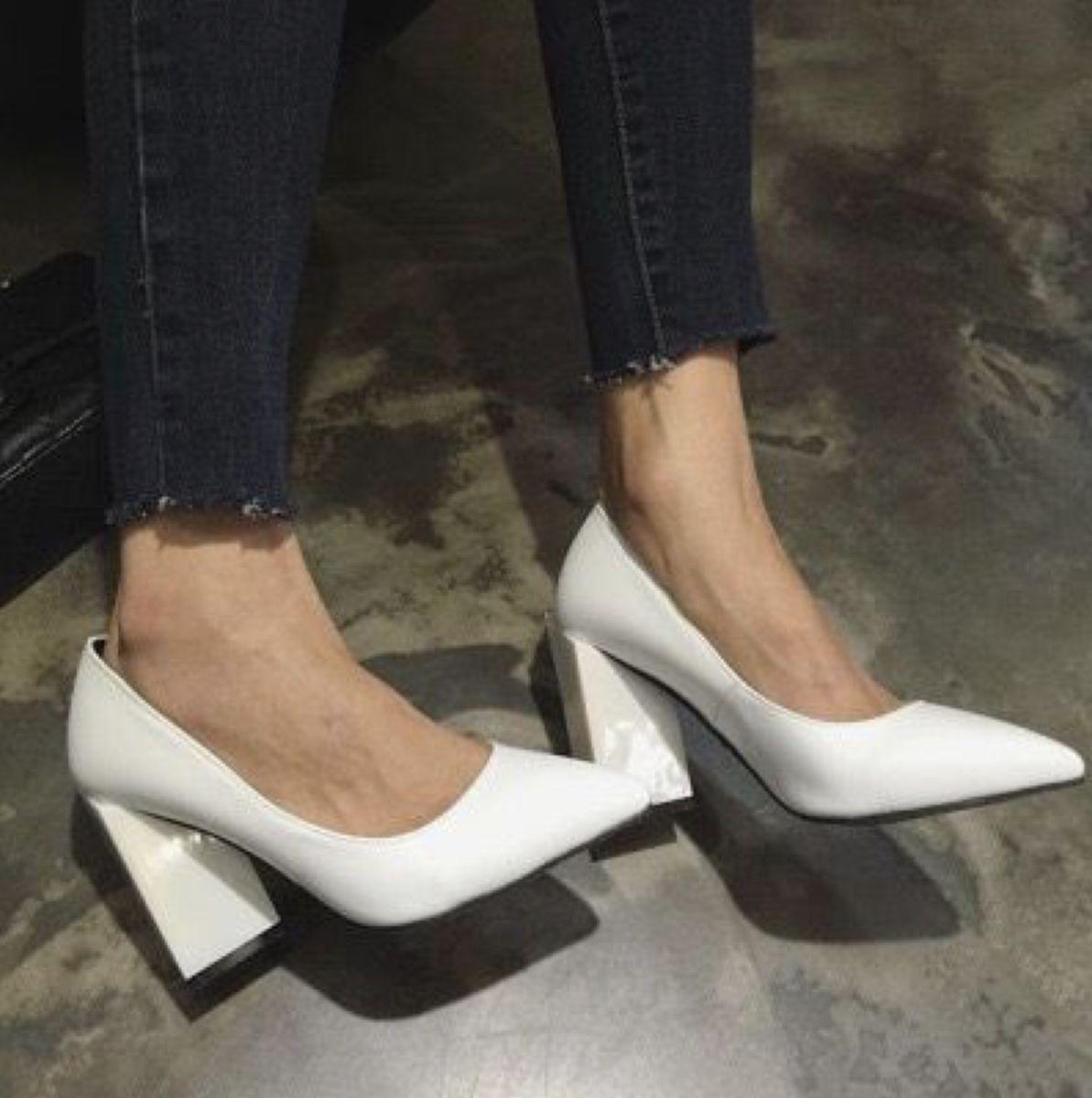 white block heel pumps   Heels, Fashion