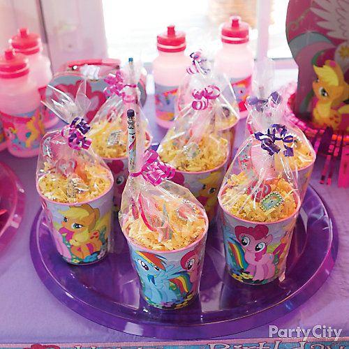 Bday Party Ideas Make Favor Cups With Pony Stuff My Little