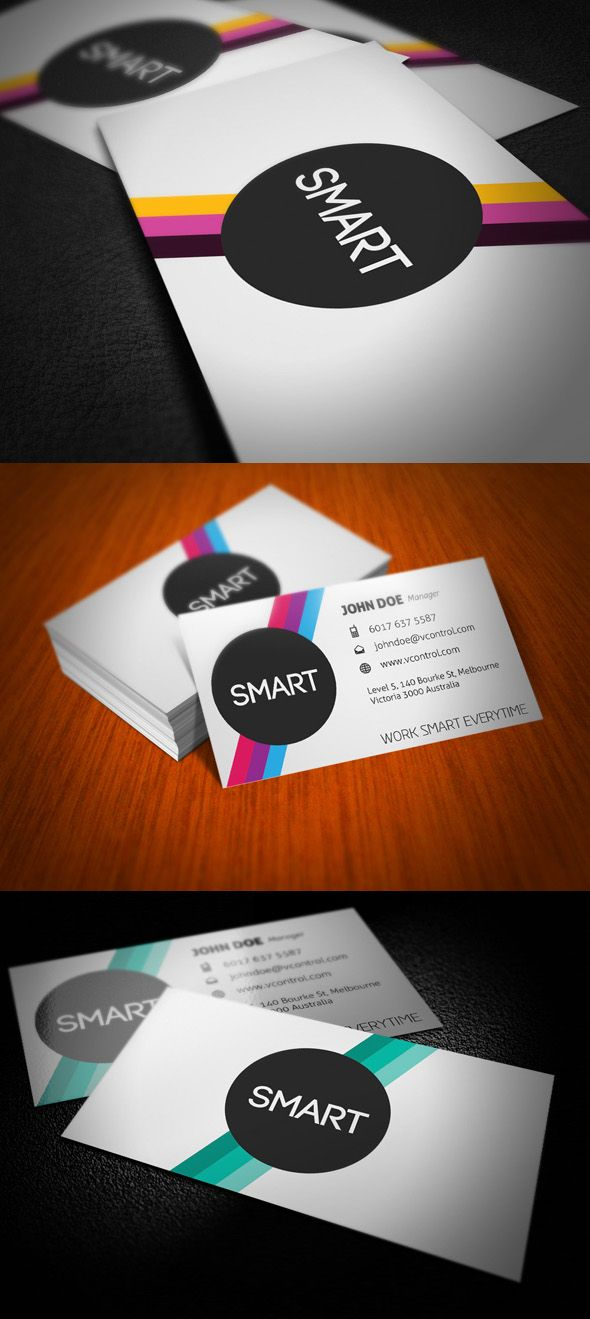 Smart Stripes Business Card By Kaixergroup On Deviantart Printing Business Cards Business Card Branding Business Card Inspiration