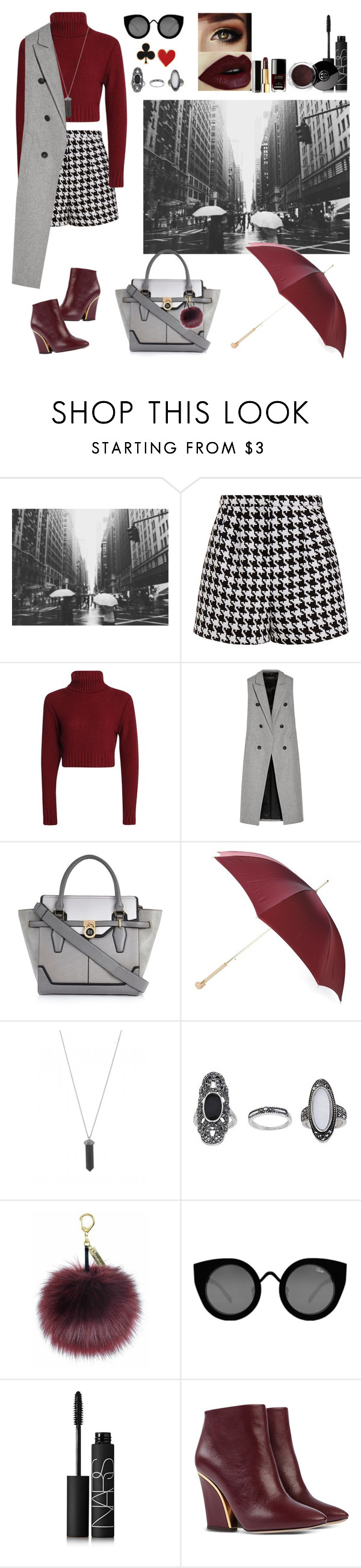"""citywalk"" by yuisatrio ❤ liked on Polyvore featuring Emma Cook, rag & bone, River Island, Alexander McQueen, Karen Kane, Topshop, Quay, NARS Cosmetics, Chloé and Chanel"