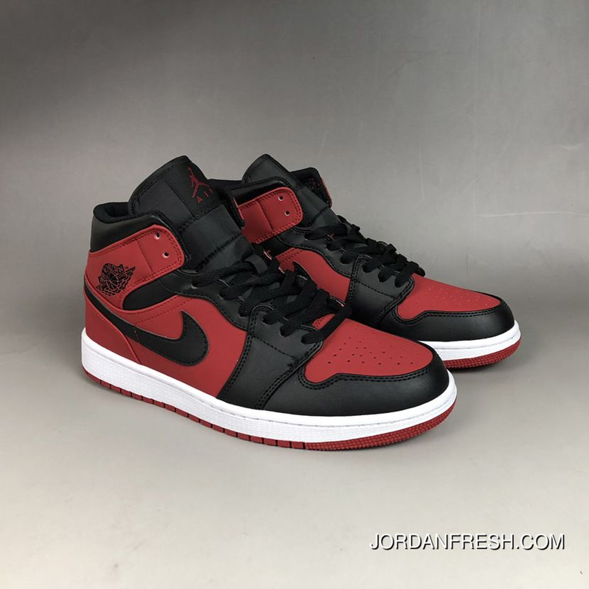 New Release Air Jordan 1 Mid Bred Gym Red Black White Air Jordans Zapatos Air Jordan Zapatillas Yeezy