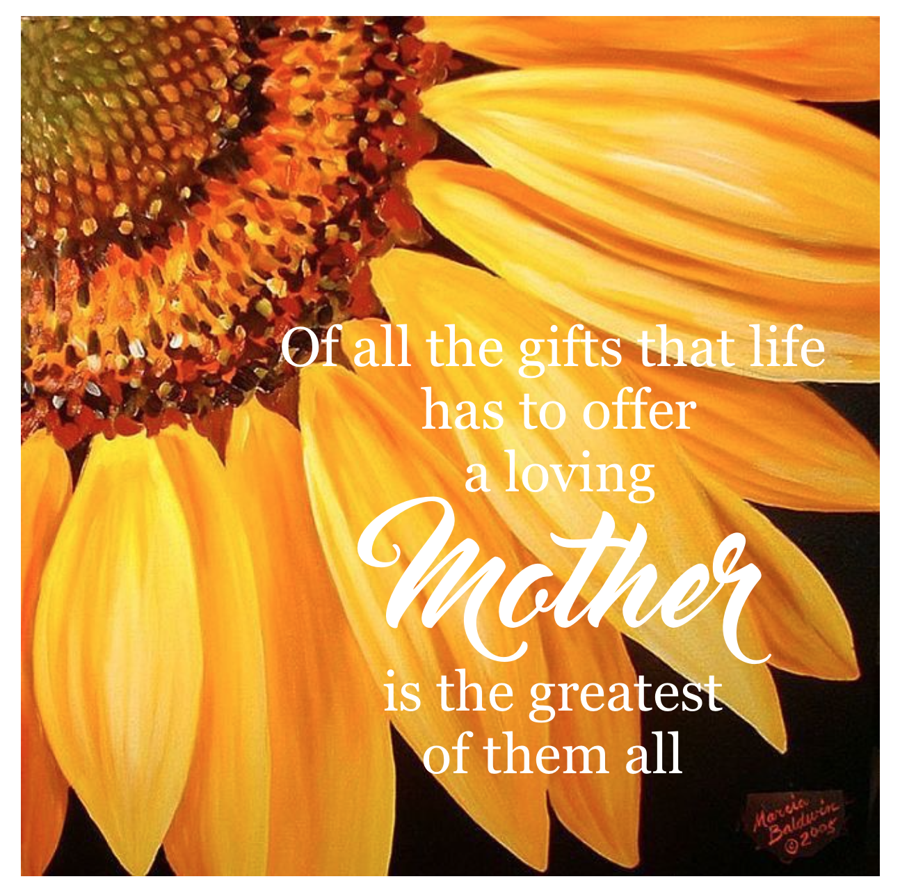 Mother S Day Quote With Sunflower Background Gardening For Kids Sunflowers Background Sunflower Pictures