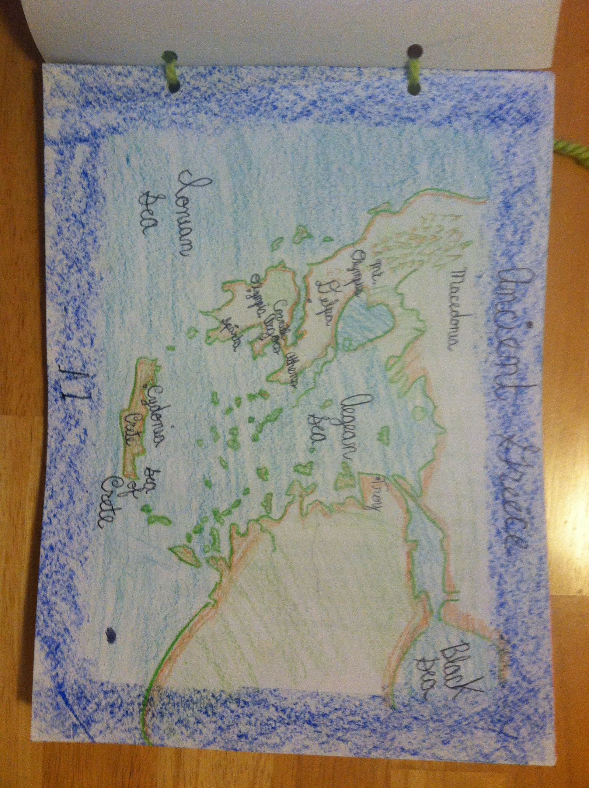 Main lesson book page 2 the map