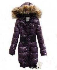 Moncler Pop Star Womens Down Long Coat Purple