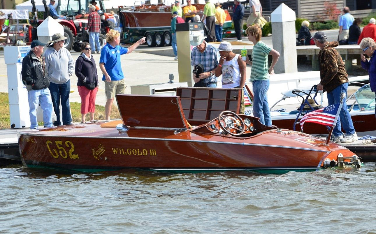 Noted restorer Mark Mason from New England Boat & Motor, Inc brought Wilgold III