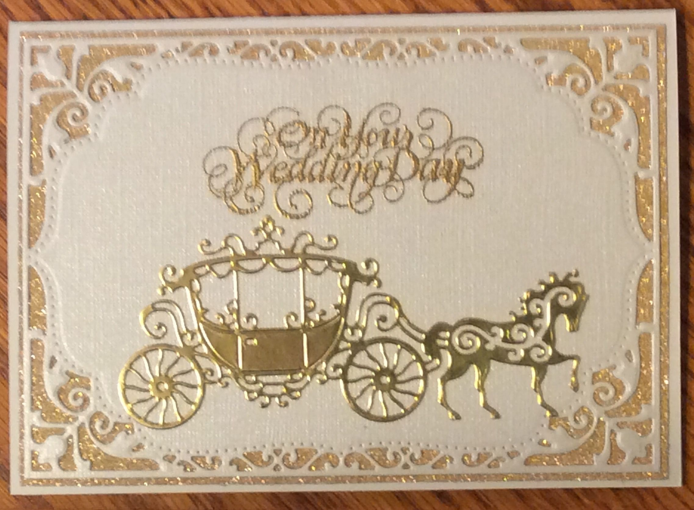 Tattered Lace horse and carriage Spellbinders Elegant Labels 4